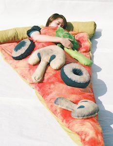 Pizza Sleeping Bag https://www.etsy.com/listing/96236038/plain-slice-of-pizza-sleeping-bag